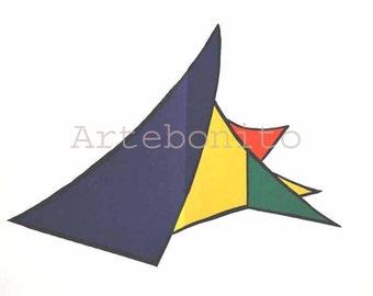 "Calder Original Lithograph ""DM26141""  Size 15 x 22 inch"