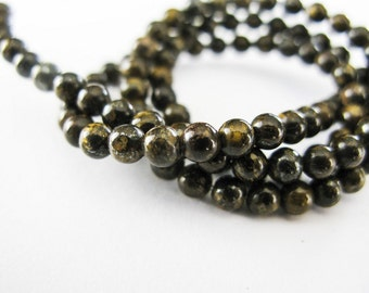 Bronzite Beads, Smooth Rounds, 3.75mm, aaagems, Full Strand, 15.5 Inches