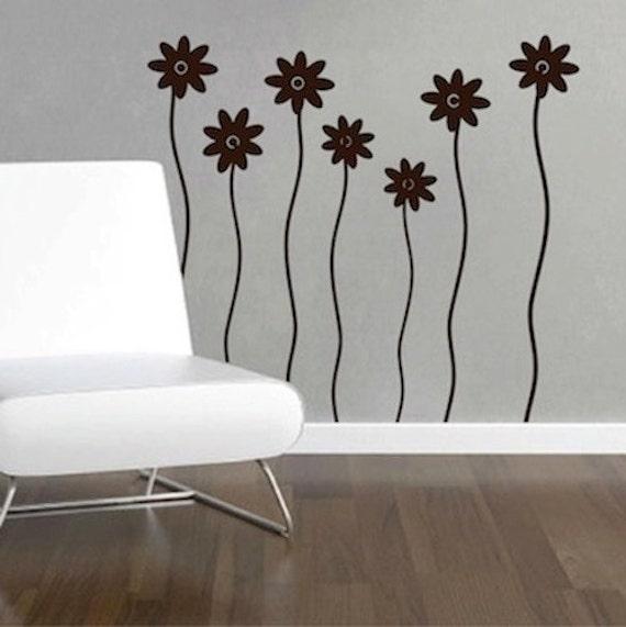 Flower Wall Decals Flower Wall Decal Flower Wall Design