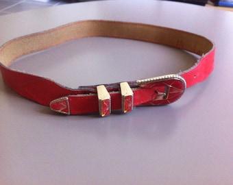 vintage leather belt 80's style