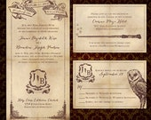 "Custom ""We Solemnly Swear"", Harry Potter-Inspired Wedding Invitations"