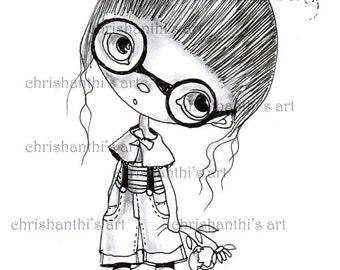INSTANT DOWNLOAD Digital Digi Stamps..by Chrishanthi's art,Thinking.