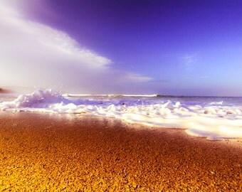 fishing decor, beach photography, water art, 8x10 print, photography, yoga art, paradise, ocean sand, summer, landscape, wall decor, love