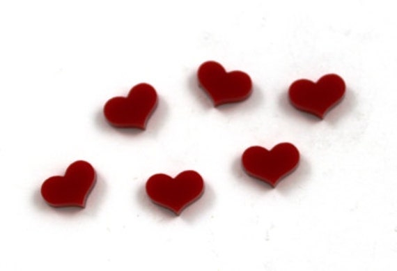 Laser Cut Supplies-8 Pieces. Hearts Charm-Laser Cut Acrylic Shape -Little Laser Lab.Online Laser Cutting Australia