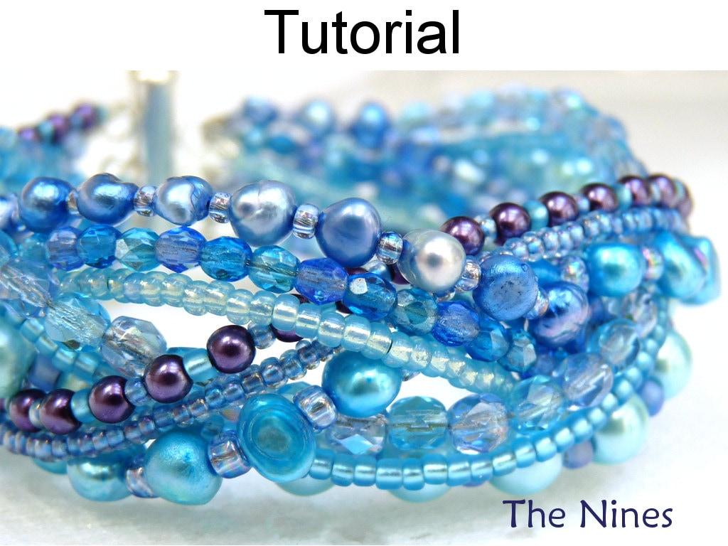 Bracelet beading tutorial pattern multi strand simple bead for Simple beaded jewelry patterns