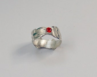 Precious Metal Clay, Sterling Silver, Art Clay Silver Ring. 10% LESS.