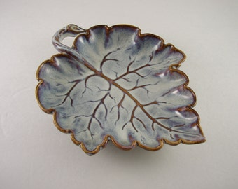 Vintage Woodland China Leaf Dish