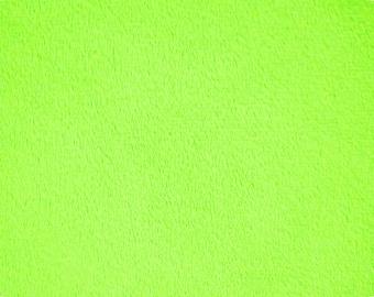 DARK LIME plush minky fabric - 1 yd cut