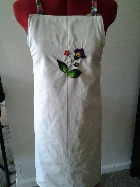 Hand Embroidered Reversible Apron