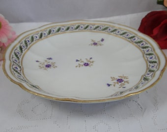 1782 to 1800 Antique Royal Crown Derby English Bone China Hand Painted Round Serving Dish Bowl- Stunning