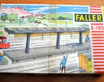 Vintage 1960s Faller B-180 Railroad Platform Unbuilt Kit