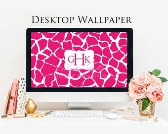 Giraffe Hot Pink Desktop