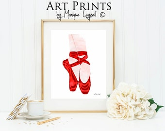 Red Ballet Shoes Art by Monique Layzell 8x10 Photo Print