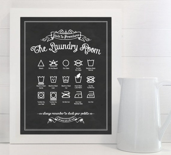 Original Guide to Procedures: The Laundry Room print