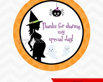 INSTANT DOWNLOAD - Witch Baby Shower Favor Tags