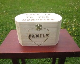 Family box Large keepsake and memory box.