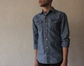 VINTAGE CHAMBRAY SHIRT free shipping