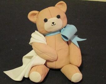 baby bear cake topper sugar gum paste shower