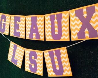 Chic LSU Louisiana State University Party Banner