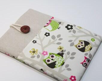 Owl iPad Pro 9.7 Case Cover iPad Air 2 Case iPad Cover foam Padded iPad Pro Case Handmade with Pocket