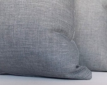 SET OF 2/ Grey Linen Pillow, Decorative Throw Pillow, Modern Pillow, Grey Linen Pillow, Pillow Cover