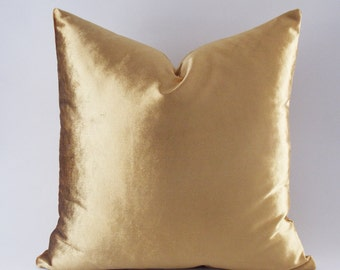 Marvelous Velvet Solid Gold Pillow Covers, Decorative Velvet Pillows, Throw Pillows ,12,14