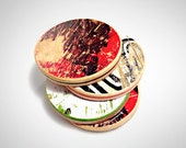 Set of 4 Recycled Skateboard Round Drink Coasters