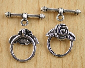 Tibetan Silver Toggle Clasp Findings 5 sets H0001