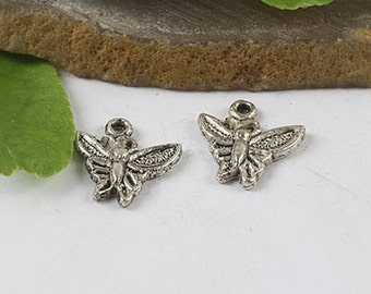 25pcs crafted butterfly charms (h0343, h2330)
