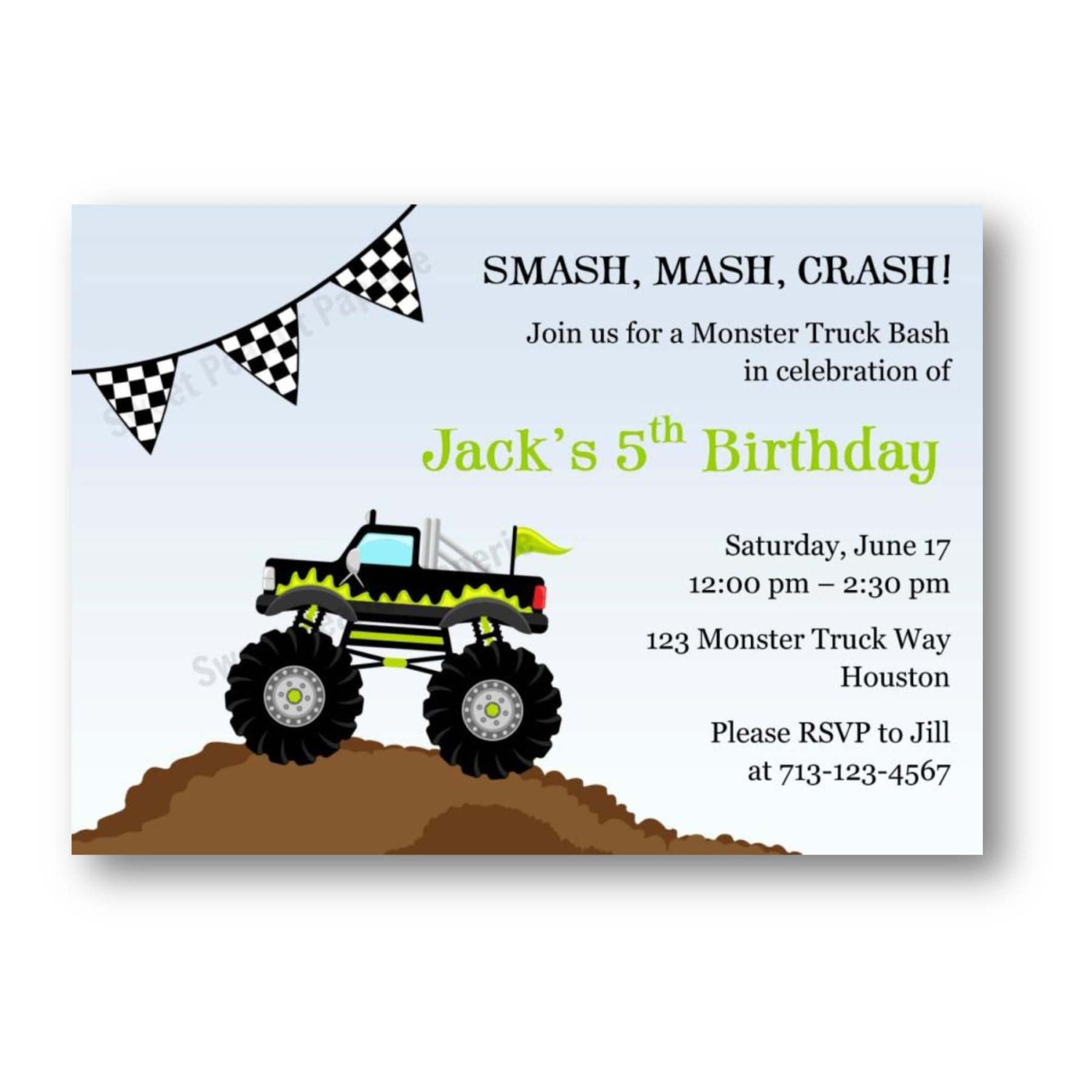 Monster Birthday Party Invitations for perfect invitation template