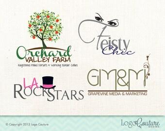 Custom Logo - Small Business Logo Design - Three Concept Designs - Three Revision - Small Business Branding - Professional Branding - OOAK