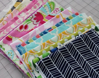 Fabric Scrap Pack - Designer Prints - 12 oz