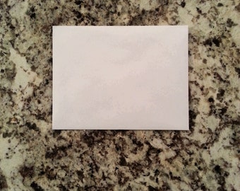 10 plain white envelopes