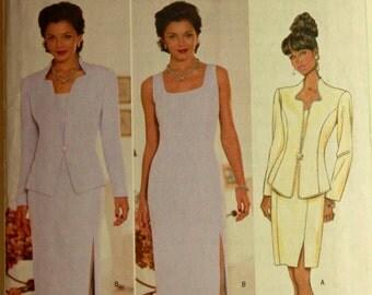 "Jacket & Dress by Rimini - 2000's - Butterick Pattern 5389 Uncut  Sizes  6-8-10  Bust 30.5-31.5-32.5"""