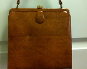 ON HOLD - Vintage Dunhill Leather Handbag Coin Purse Never Used Chestnut  Brown Purse 1950s 1960s