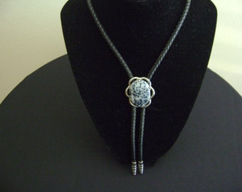 Vintage Bolo Tie with a Glass Stone