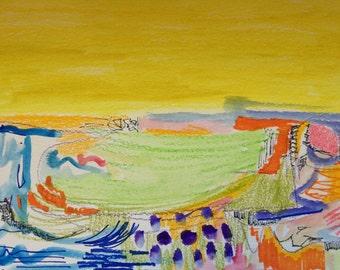 Original Landscape Abstract, Landscape Painting, Abstract Painting, Modern Abstract, Bohemian Art, The Prairie