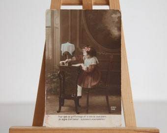 Antique Hand Painted 1919 Postcard. Made in France