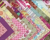 "100 piece charm pack 2""x 2"" pre-cut quilt squares variety mix prints 100% Cotton fabric"
