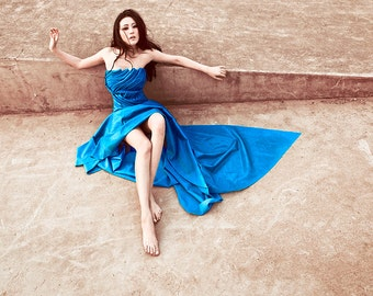 A Bridesmaid's Tale / Long Latex Dress / Long Evening Latex Dress
