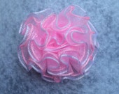 """1 Girls Baby Newborn Pink Rose Flower Boutique Hair Bow Small Velcro Clip 1.5"""" Ready to Ship"""