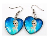 Frozen Elsa or Elsa and Anna Sisters Earrings Ready to Ship Children Girls Jewelry