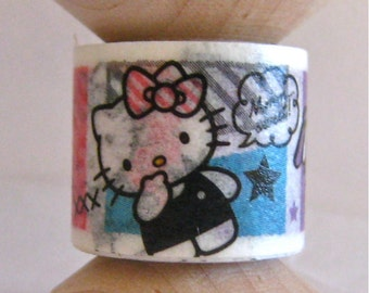 "Washi Tape Mini Spool Single ""Hello Kitty Nose Dig""  Just kidding :)"