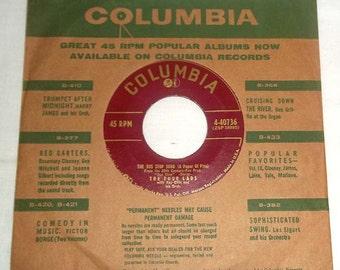 Vintage 45 RPM Vinyl Columbia Record The Four Lads