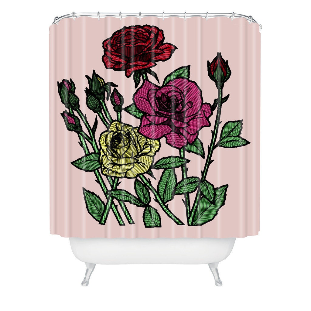 Beautiful vintage rose floral shower curtain by yourperfecthome - Roses Shower Curtain Roses Shower Curtain Floral Shower Floral