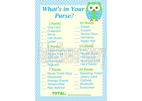 boy owl baby shower game blue owl baby shower game for boy what 39 s in