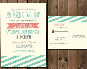 Wedding Invitation Suite, Modern and Casual