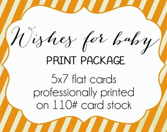 Wishes for baby cards - PRINT OPTION