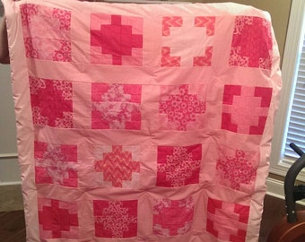 Girls Jelly Roll Quilt