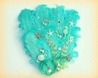 Mermaid's Reef mermaid hair clip, little mermaid headpiece, beach wedding hair, dance costume, little mermaid, mermaid fascinator,